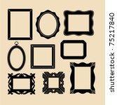 vector frames   Shutterstock .eps vector #75217840