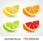citrus fresh fruits set. orange ...