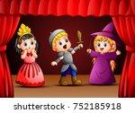 vector illustration of little... | Shutterstock .eps vector #752185918