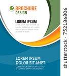 vector brochure  flyer ...   Shutterstock .eps vector #752186806