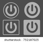 power button icon set . vector... | Shutterstock .eps vector #752187025