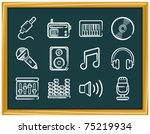 music icons | Shutterstock .eps vector #75219934