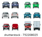 vector set cars front and rear... | Shutterstock .eps vector #752208025