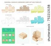 vector diagonal handled carry... | Shutterstock .eps vector #752213158