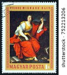 hungary   circa 1970  a stamp... | Shutterstock . vector #752213206