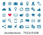 vector social media... | Shutterstock .eps vector #752215108