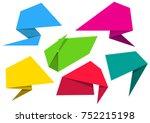 blank vector origami paper... | Shutterstock .eps vector #752215198
