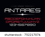 antares futuristic vector... | Shutterstock .eps vector #752217076