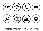 web icon set | Shutterstock .eps vector #752223796