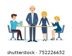 business people working office. ... | Shutterstock . vector #752226652