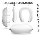 sausage package set vector.... | Shutterstock .eps vector #752227165