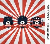 soccer football club logo badge ... | Shutterstock .eps vector #752233102