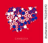 colorful map of cambodia filled ... | Shutterstock .eps vector #752245192