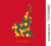 colorful map of cameroon filled ... | Shutterstock .eps vector #752245882