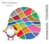 christmas santa claus... | Shutterstock .eps vector #752246032