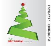 merry christmas tree... | Shutterstock .eps vector #752246035