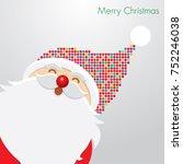 christmas card santa claus | Shutterstock .eps vector #752246038