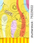 cafe background | Shutterstock . vector #75225022