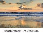 seascape of the atlantic ocean... | Shutterstock . vector #752251036