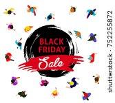 black friday promotional banner ...   Shutterstock . vector #752255872