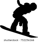 silhouette of a snowboarder... | Shutterstock .eps vector #752256166