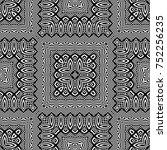 design seamless monochrome... | Shutterstock .eps vector #752256235