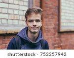portrait of a pretty teenager... | Shutterstock . vector #752257942