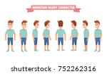 flat guy character set.... | Shutterstock .eps vector #752262316
