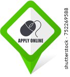 apply online green square... | Shutterstock .eps vector #752269588