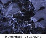 dark ice texture | Shutterstock . vector #752270248