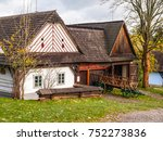 wooden houses of vesely kopec... | Shutterstock . vector #752273836