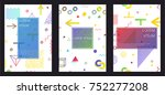 covers with minimal design.... | Shutterstock .eps vector #752277208
