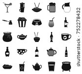 tableware icons set. simple set ... | Shutterstock .eps vector #752278432
