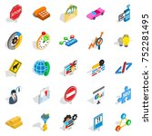 convenient icons set. isometric ... | Shutterstock .eps vector #752281495