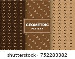 geometric pattern set. simple ... | Shutterstock .eps vector #752283382