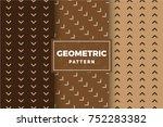 geometric pattern set. simple ... | Shutterstock .eps vector #752283382