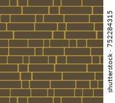 seamless texture of a brick... | Shutterstock .eps vector #752284315