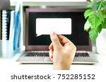 digital communication and... | Shutterstock . vector #752285152