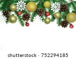 christmas frame background from ... | Shutterstock . vector #752294185