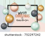 christmas banner design with... | Shutterstock .eps vector #752297242