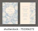 card template for your design.... | Shutterstock .eps vector #752306272