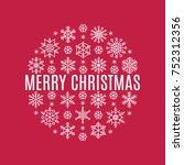 vector christmas banner with... | Shutterstock .eps vector #752312356