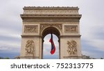 spring photo from iconic arc de ... | Shutterstock . vector #752313775