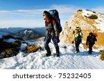 Team Of Three Alpinists...