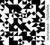 black and white  abstract... | Shutterstock .eps vector #752324656
