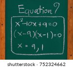 math equation exponent and... | Shutterstock . vector #752324662