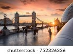 the tower bridge in london... | Shutterstock . vector #752326336