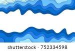 paper cut water deep layer. 3d...   Shutterstock . vector #752334598