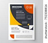 flyer brochure design template  ... | Shutterstock .eps vector #752338816