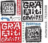 hand drawn design elements ... | Shutterstock .eps vector #75234508